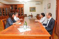 Государственный министр принял президента  национальной академии наук РА