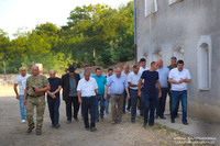 President Harutyunyan got acquainted with the asphalting works and housing conditions of the newly built building in Kaghartsi community of Martuni region