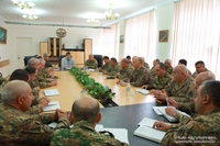 President Harutyunyan introduced the newly appointed Minister of Defence Kamo Vardanyan to the highest command staff of the Defence Army