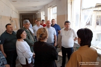 President of the Artsakh Republic Arayik Harutyunyan got acquainted with the restoration works of the  school N 10 in Stepanakert damaged by the war